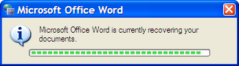 MS-Word having a bad day